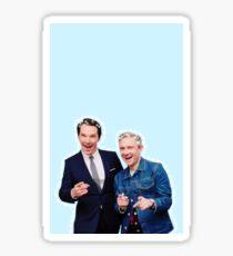 Benedict cumberbatch & martin freeman  Sticker