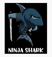 Ninja Shark Samurai Funny Sword Warrior Fantasy Photographic Print
