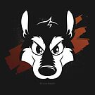 Toon wolf face by licographics