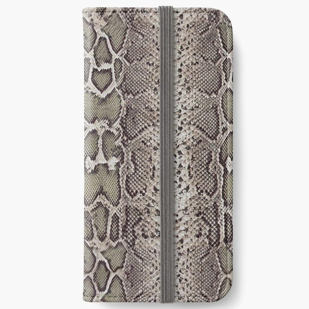 Schlangenhaut iPhone Flip-Case