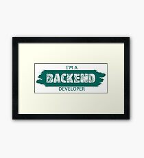 Backend developer Framed Print