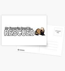 Meine Lieblingsrasse wird gerettet Postkarten