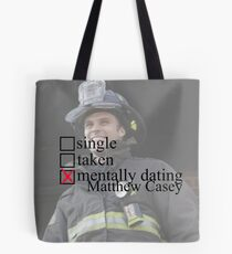 Matthew Casey - Chicago Fire Mentally Dating Tote Bag
