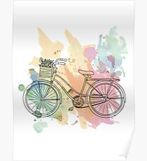 Beach Cruiser Bike Poster