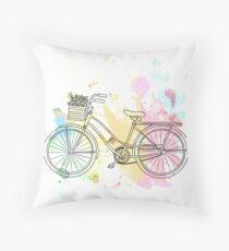 Beach Cruiser Bike Throw Pillow