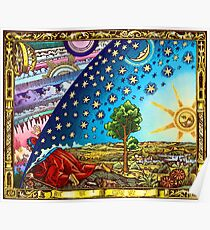 Flammarion Woodcut Flat Earth Design 2017 Poster