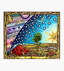 Flammarion Woodcut Flat Earth Design 2017 Photographic Print