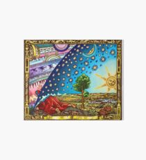 Flammarion Woodcut Flat Earth Design 2017 Art Board