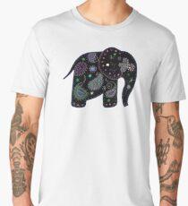 black embroidered elephant Men's Premium T-Shirt