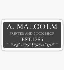 A. MALCOLM Sticker