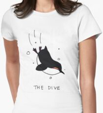 Penguin party: the dive Women's Fitted T-Shirt