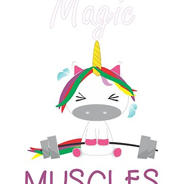 Magic Muscles - Funny unicorn gym theme by DBA-Dezines