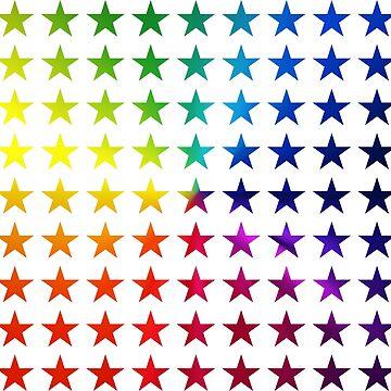 Colour Spectrum Stars by daleharvey