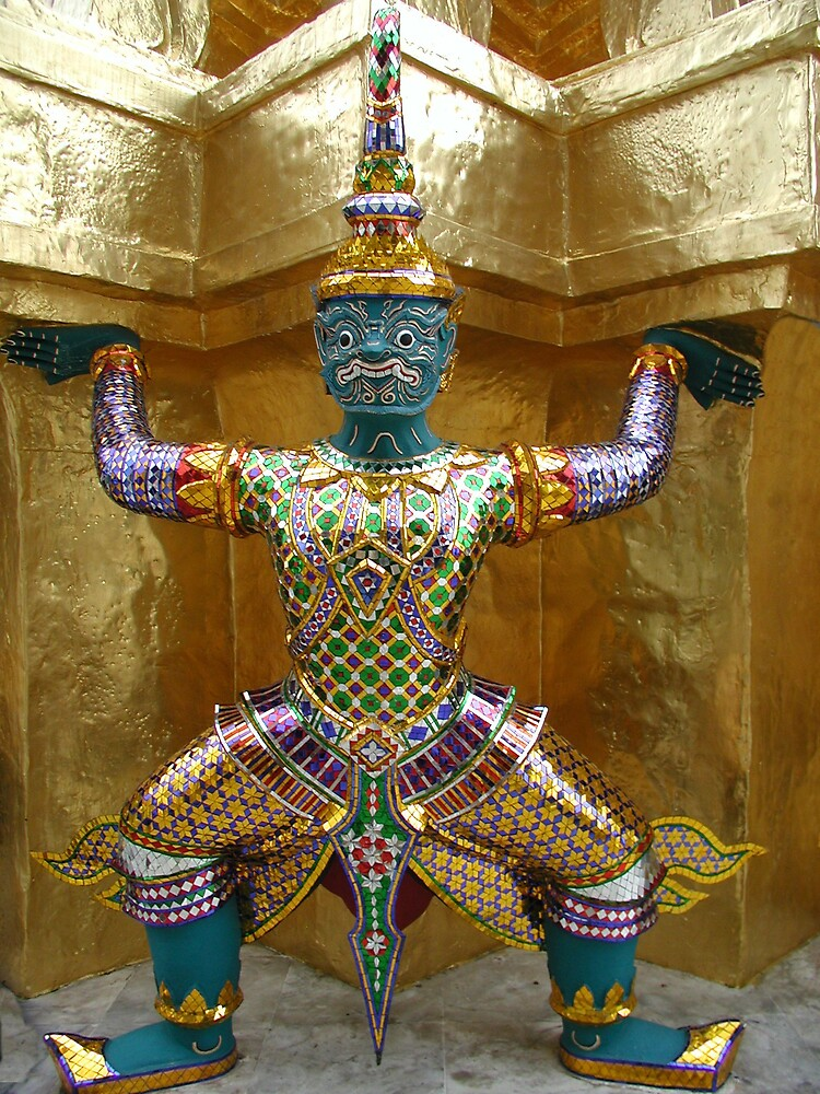 Thai Temple Figure 2 by Tom  Reynen