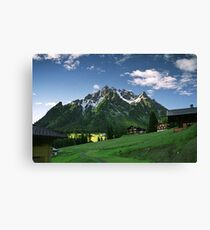 Morning snow at Ritzenspitzen, Austria Canvas Print
