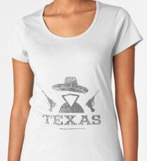 Texas Vintage Cowboy Outlaw logo Women's Premium T-Shirt