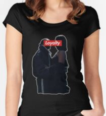 Kendrick Lamar and Rihanna Loyalty Women's Fitted Scoop T-Shirt