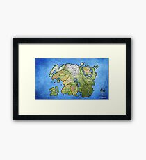 Elder Scrolls Map Framed Print