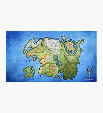 Elder Scrolls Map Photographic Print