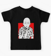 one punch man merchandise logo Kids Clothes