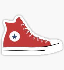 CONVERSE HIGH TOPS | RED Sticker