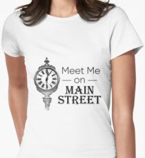 Meet Me On Main Street Women's Fitted T-Shirt