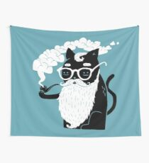 Whiskers And Pipe Wall Tapestry