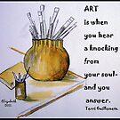 Coffee Art on a card! by Elizabeth Kendall