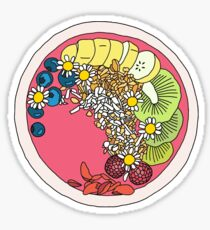 Handdrawn Acai Bowl Design Sticker