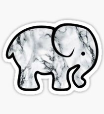 Marmor Elefant Sticker