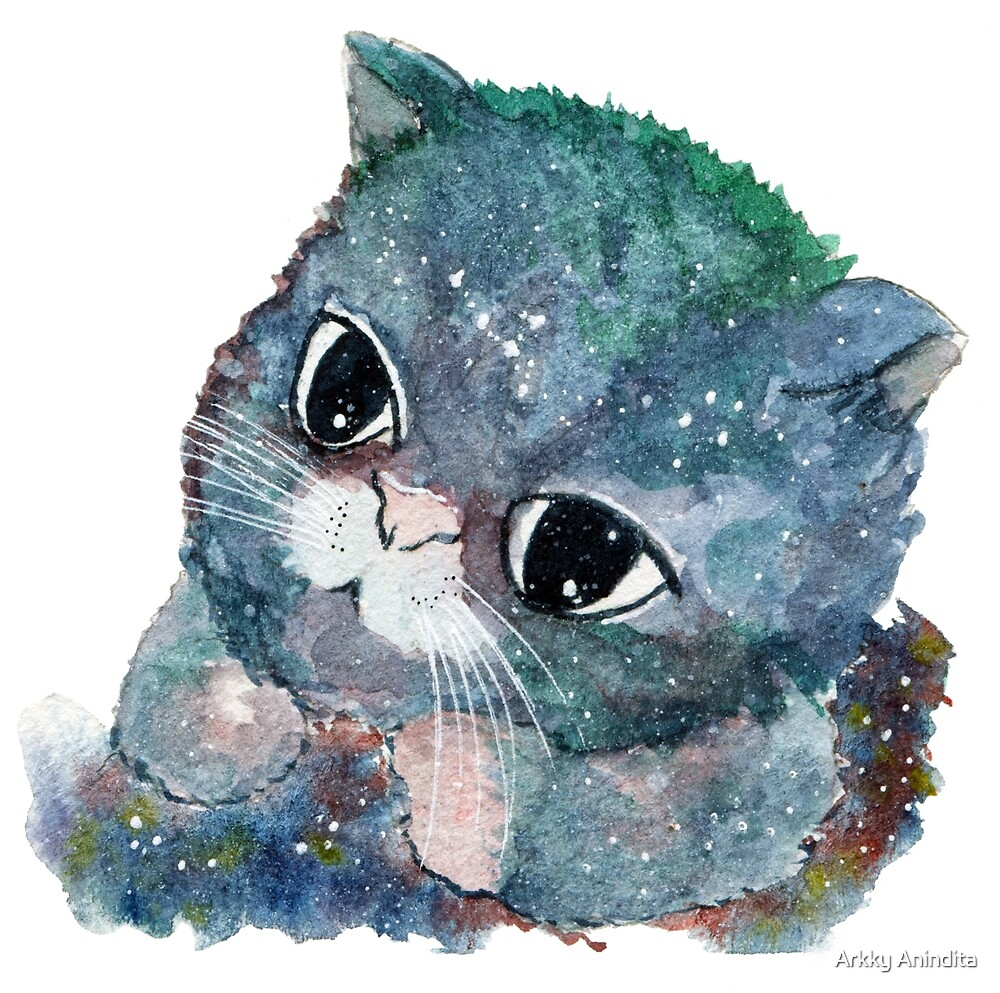 Baby Galaxy Cat by Paperon Design