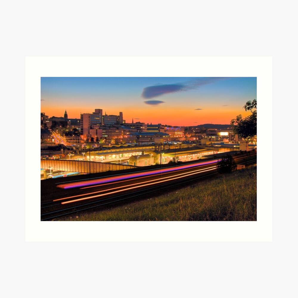 Sheffield at night Art Print