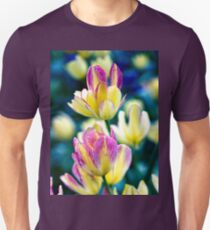 Pink and/or Purple and Yellow Tulips in the Spring T-Shirt