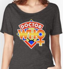 4th Doctor Logo with a Twist (in Color) Women's Relaxed Fit T-Shirt