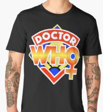 4th Doctor Logo with a Twist (in Color) Men's Premium T-Shirt
