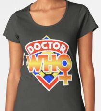 4th Doctor Logo with a Twist (in Color) Women's Premium T-Shirt