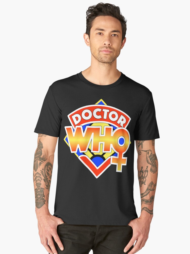 4th Doctor Logo with a Twist (in Color) Men's Premium T-Shirt Front