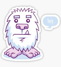 Yeti In A Snowstorm Sticker
