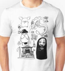 Spirit Away Characters T-Shirt