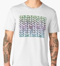 Chunky Lavender Forest Knit Men's Premium T-Shirt