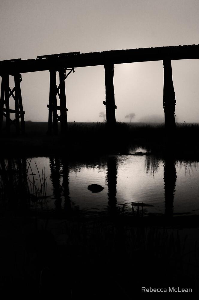 Old Rail Bridge II by Rebecca McLean
