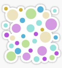 cute and fun, playful purple, green, blue, yellow colorful round dots. Sticker