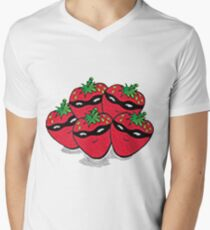 The Strawberry Thieves band logo large Men's V-Neck T-Shirt