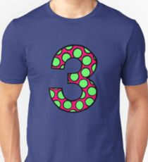 Spacemen 3 Style Two Tone Polka Dotted Three T-Shirt
