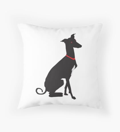 greyhound (vector) Throw Pillow