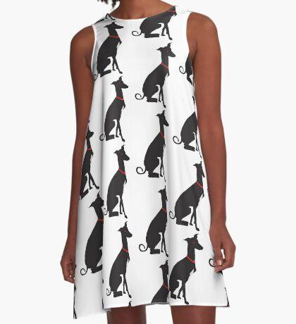 greyhound (vector) A-Line Dress