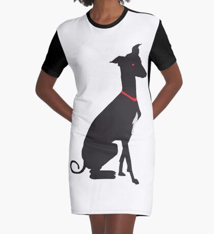 greyhound (vector) Graphic T-Shirt Dress