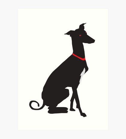 greyhound (vector) Art Print