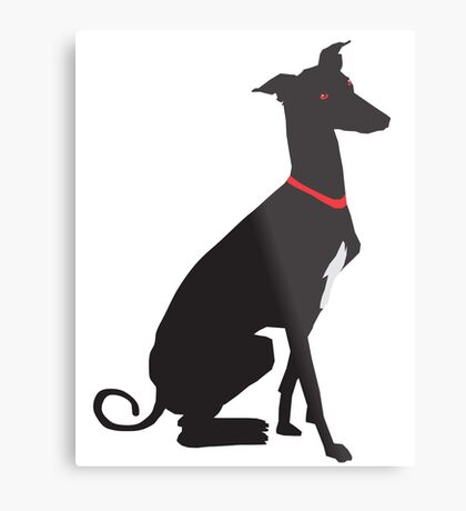 greyhound (vector) Metal Print