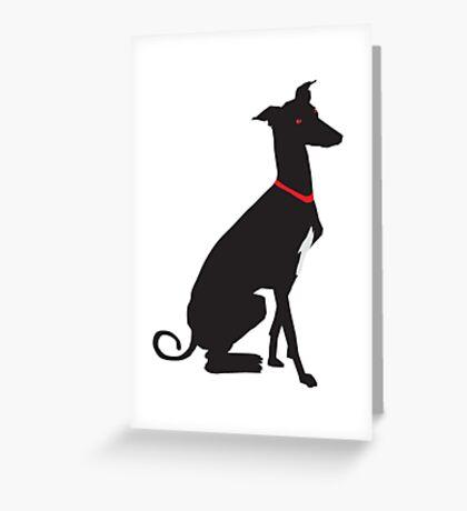 greyhound (vector) Greeting Card